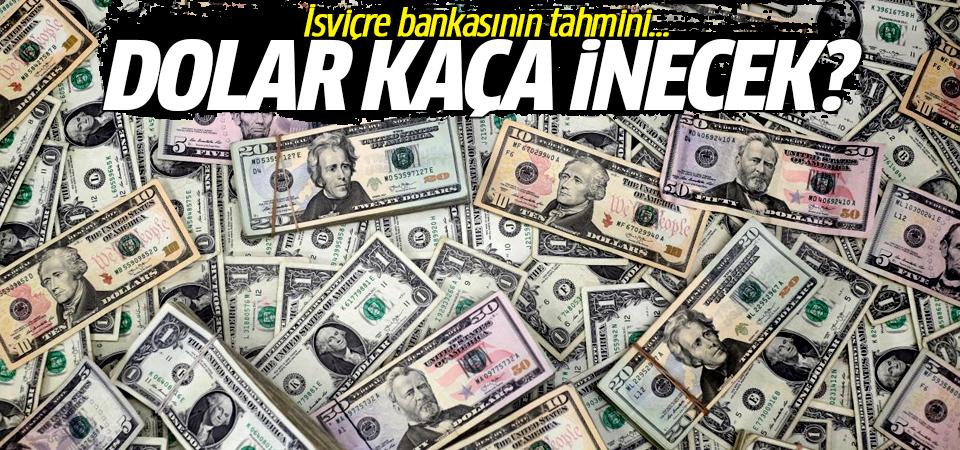 İsviçre bankasının tahmini… Dolar kaça inecek?