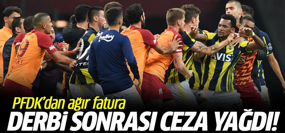 Olaylı biten Galatasaray-Fenerbahçe derbisinde PFDK'ya sevk edilen isimlerin cezaları belli oldu…