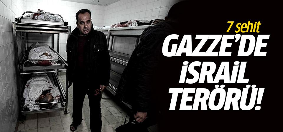 Gazze'de İsrail terörü: 7 Şehit…