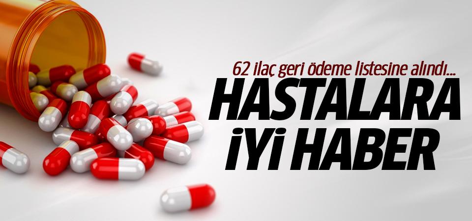 62 ilaç geri ödeme listesine alındı... Hastalara iyi haber