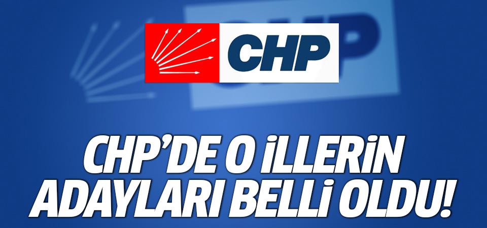 CHP Parti Meclisi açıkladı! İşte Belediye başkan adayları...