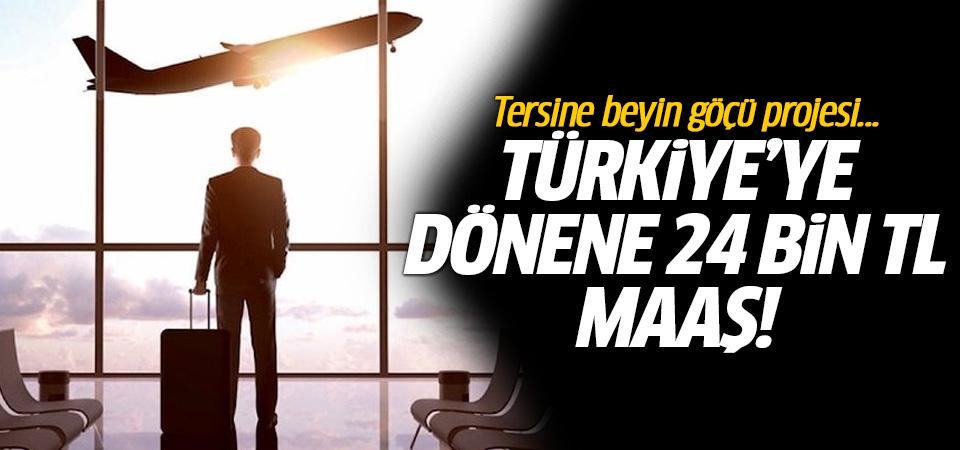Tersine beyin göçü projesi: Türkiye'ye dönene 24 bin TL maaş
