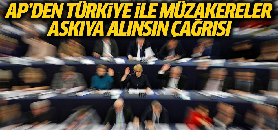Türkiye ile müzakereler resmen askıya alınsın raporu
