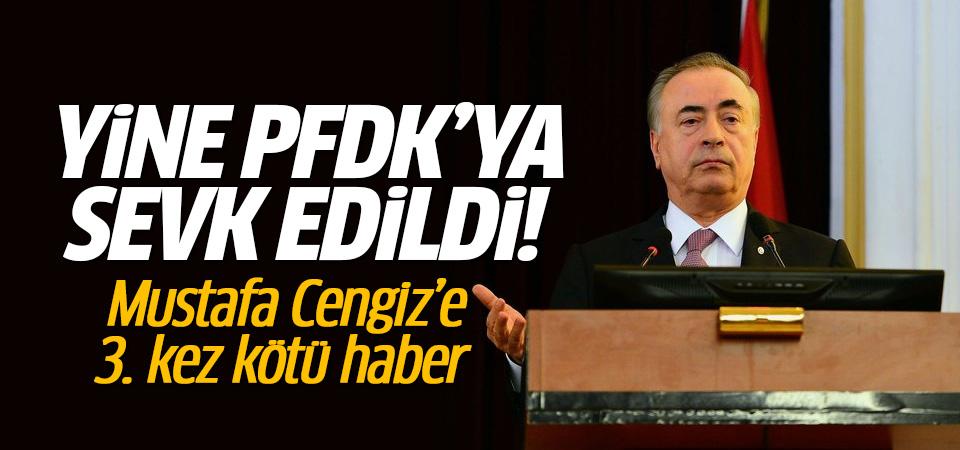 Mustafa Cengiz'e kötü haber geldi Yine PFDK'ya sevk edildi