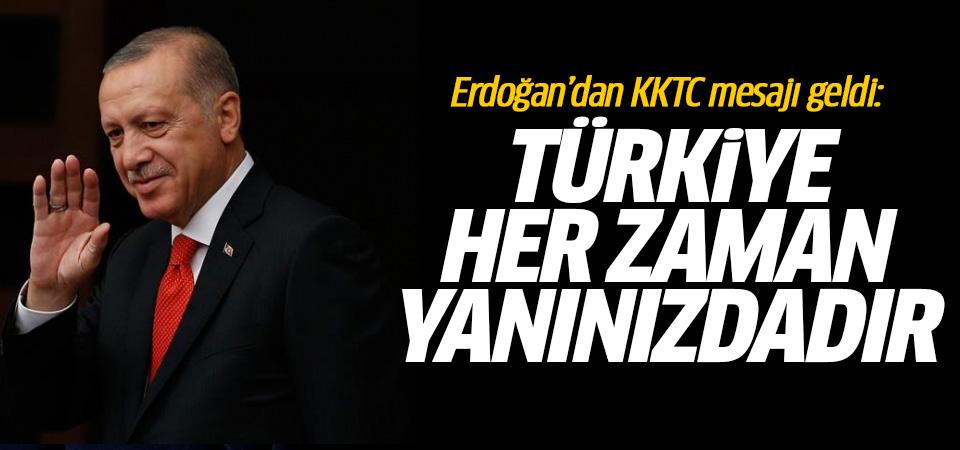Başkan Erdoğan'dan KKTC kuruluş dönemi mesajı yayınlandı
