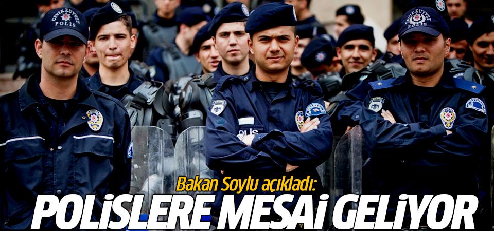 Bakan Soylu açıkladı: Polislere mesai geliyor