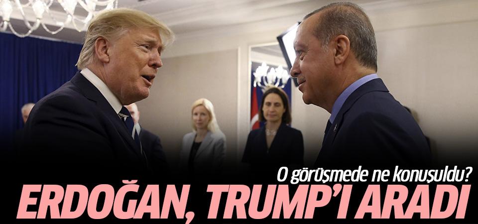 Cumhurbaşkanı Erdoğan Trump'la telefonda görüştü