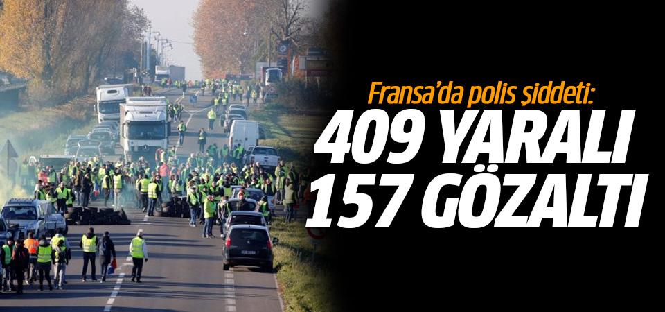 Fransa'da polis şiddeti: 409 yaralı, 157 gözaltı