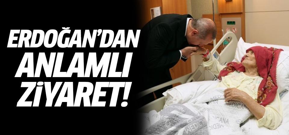 Erdoğan'dan anlamlı ziyaret! 100 yaşındaki Nazmiye Balcı...