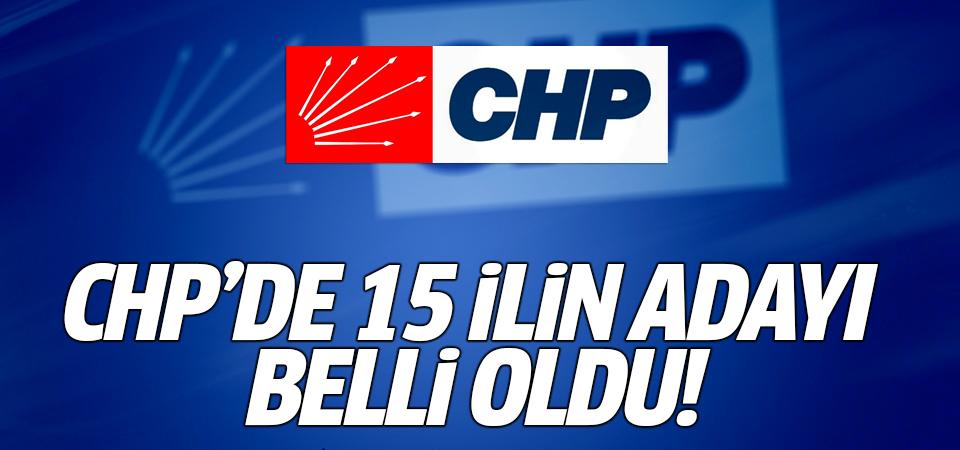 CHP'de 15 ilin adayı belli oldu