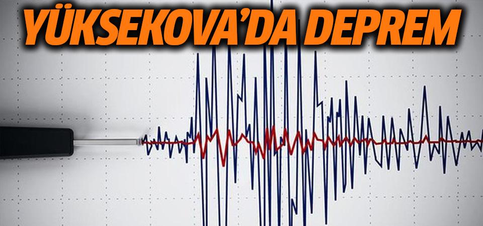 Hakkari'nin Yüksekova ilçesinde deprem
