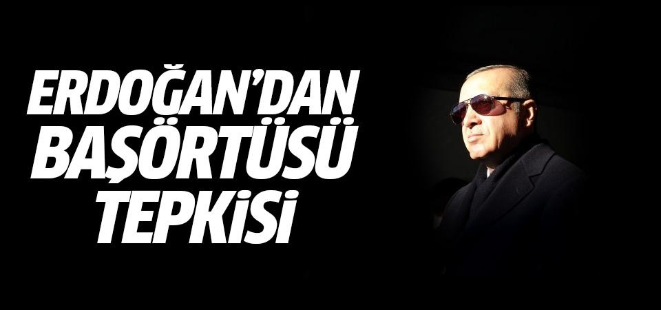 Erdoğan'dan Danıştay'a başörtüsü tepkisi