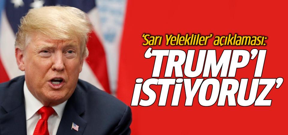 'Sarı Yelekliler' açıklaması: Trump'ı istiyoruz