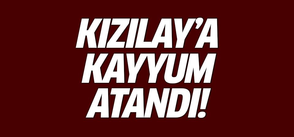 Flaş gelişme: Kızılay'a kayyum atandı!