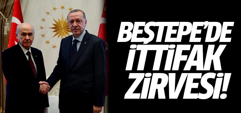 Beştepe'de ittifak zirvesi! Erdoğan ile Bahçeli görüştü