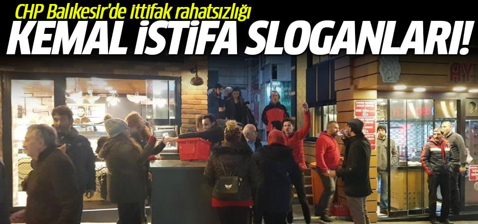 Balıkesir'de 'Kemal istifa' sloganları
