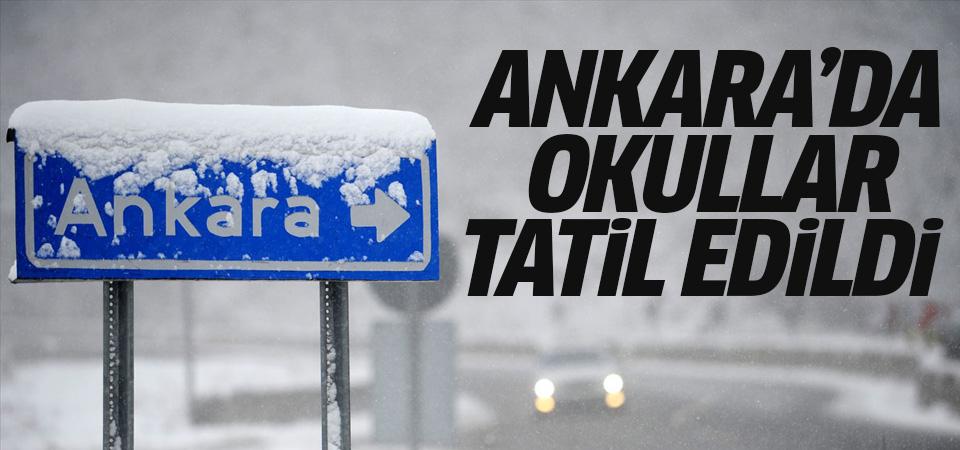 Ankara'da eğitime 1 gün ara verildi