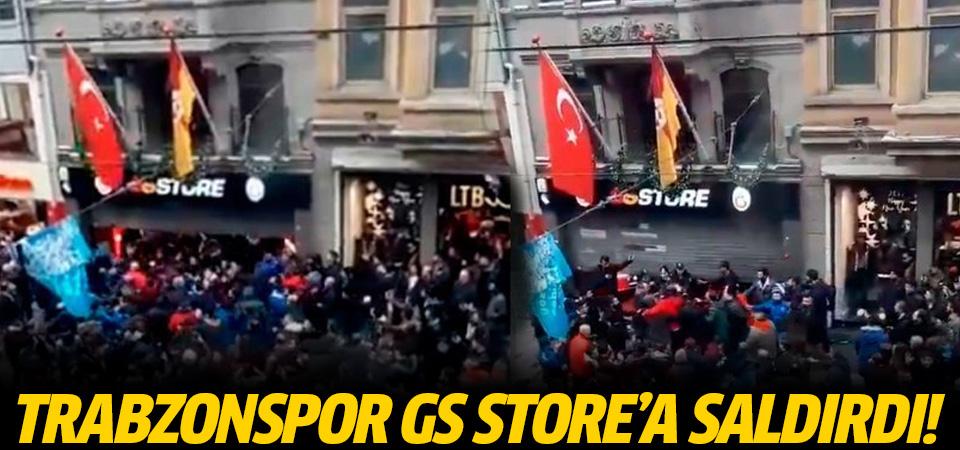 GS Store Trabzonluların saldırısına uğradı