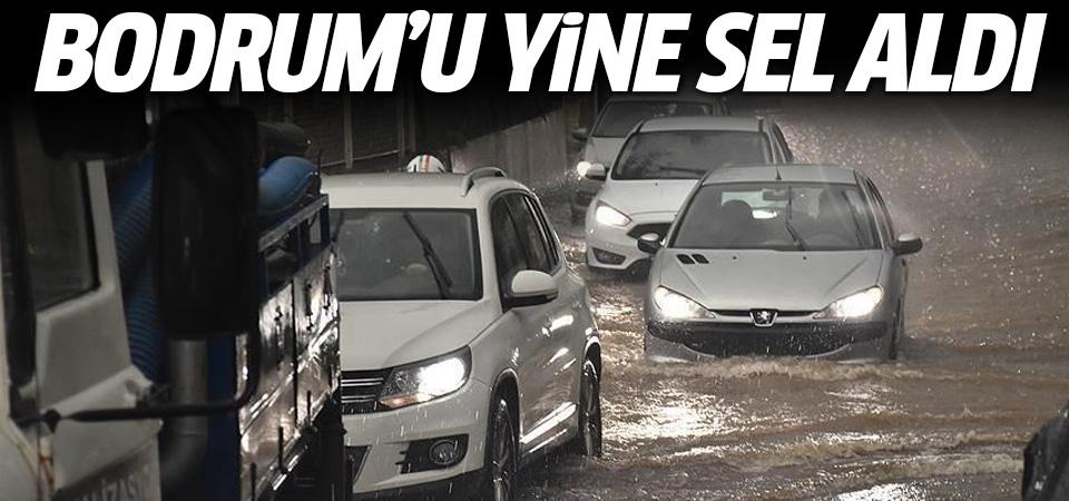Bodrum'u yine sel vurdu: Vatandaşlar isyan etti