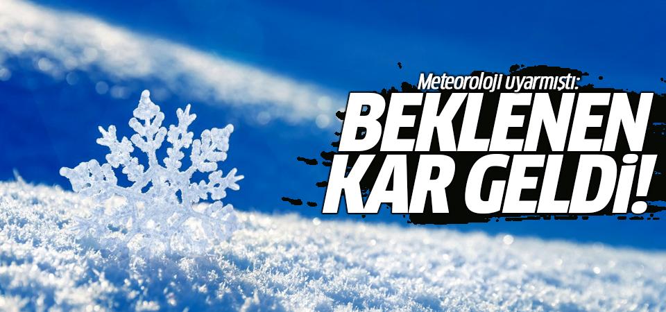 Meteoroloji uyarmıştı: Beklenen kar geldi