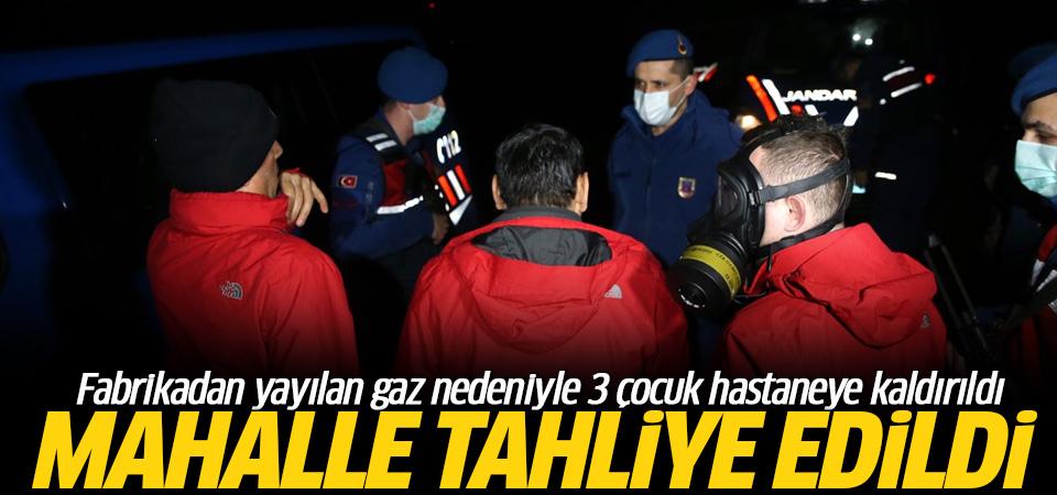 Fabrikadan yayılan gaz nedeniyle mahalle tahliye edildi: 3 çocuk hastaneye kaldırıldı