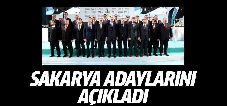Erdoğan, AK Parti'nin Sakarya adaylarını açıkladı