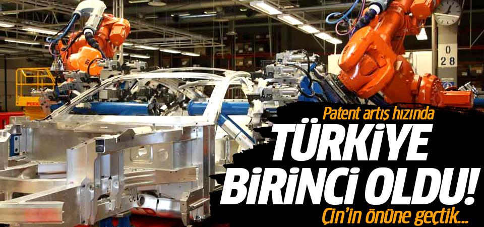 Patent artış hızında Türkiye birinci oldu! Çin'in önüne geçtik