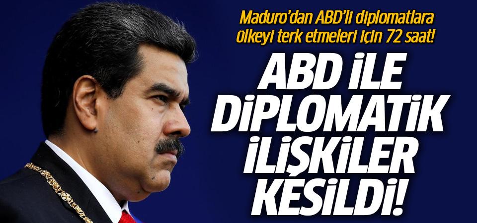 Maduro'dan ABD'ye şok karar! 72 saat süre verdi
