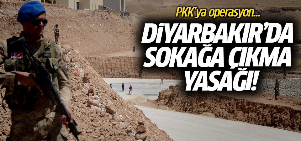 Diyarbakır'da sokağa çıkma yasağı! PKK'ya operasyon...