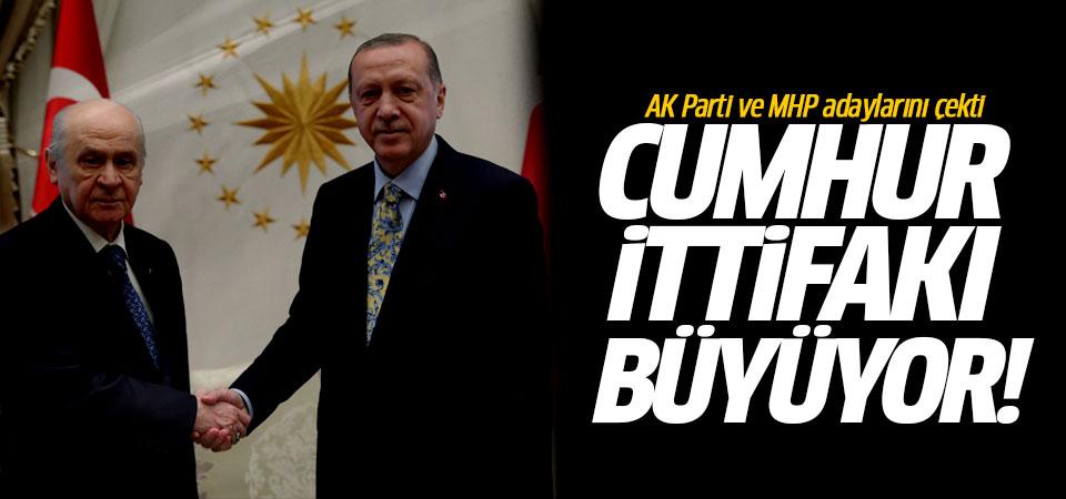 Cumhur İttifakı büyüyor! AK Parti ve MHP adaylarını çekti
