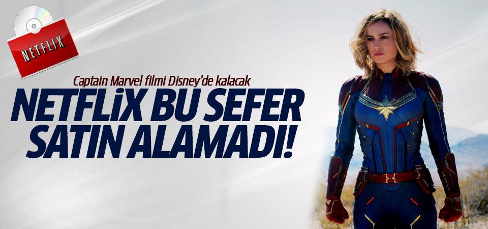 Netflix bu sefer satın alamadı! Captain Marvel filmi Disney'de kalacak