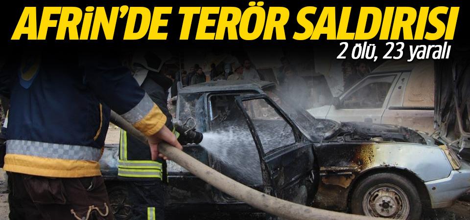 Afrin'de terör saldırı: 2 ölü, 23 yaralı