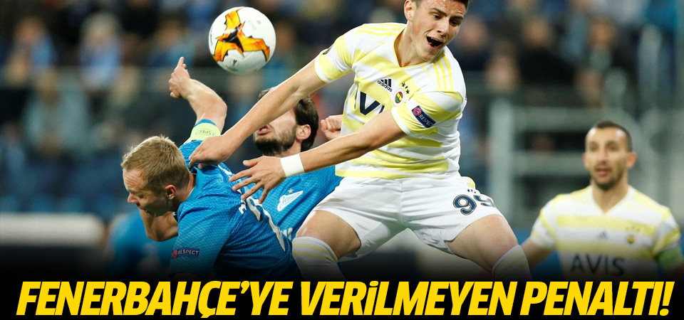 Fenerbahçe'ye verilmeyen penaltı