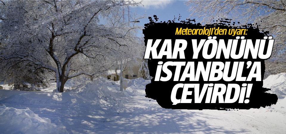 Meteoroloji'den uyarı: Kar yönünü İstanbul'a çevirdi