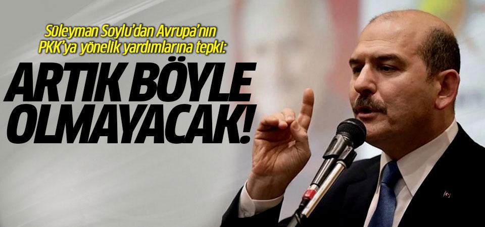 Süleyman Soylu'dan Avrupa'nın PKK'ya yönelik yardımlarına tepki…