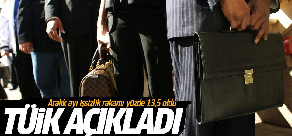 Türkiye'de aralık ayı işsizlik rakamları açıklandı…