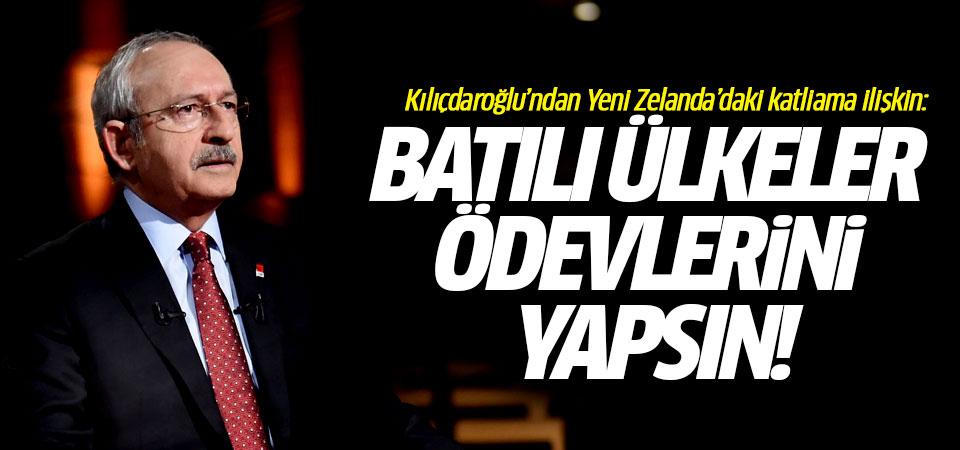 Kılıçdaroğlu: Batılı ülkeler ödevlerini yapsın…