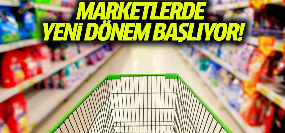 Bakan Pekcan açıkladı: Marketlerde yeni dönem başlıyor!