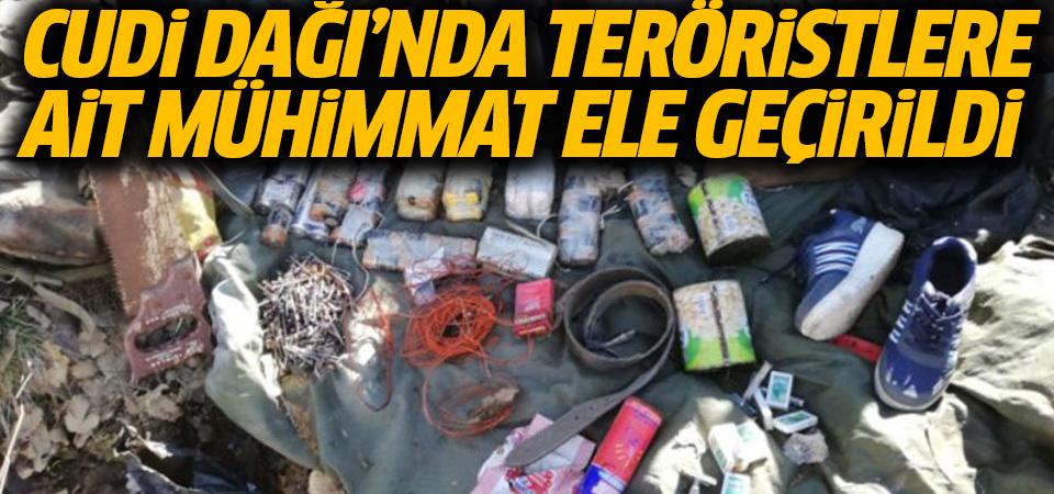 Cudi Dağı'nda teröristlerin mühimmatları ele geçirildi