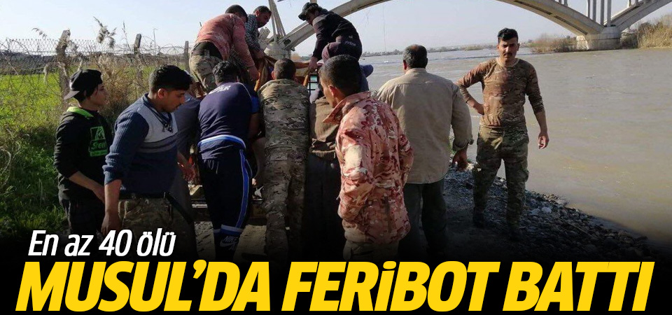 Musul'da feribot battı…