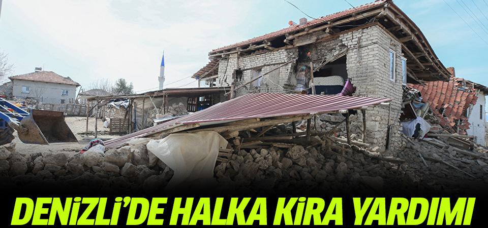 Denizli'de depremzedelere kira yardımı