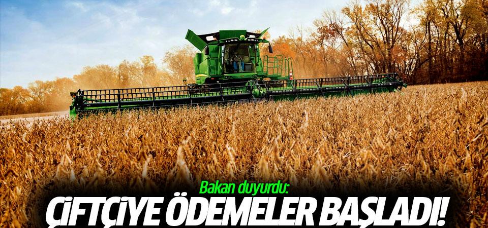 Bakan duyurdu: Çiftçiye ödemeler başladı!