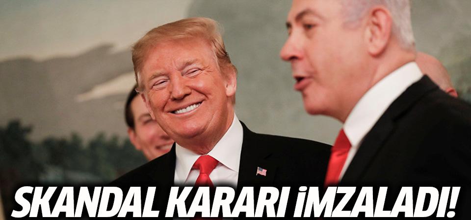 Trump, o kararı imzaladı, ilk tepki Türkiye'den geldi