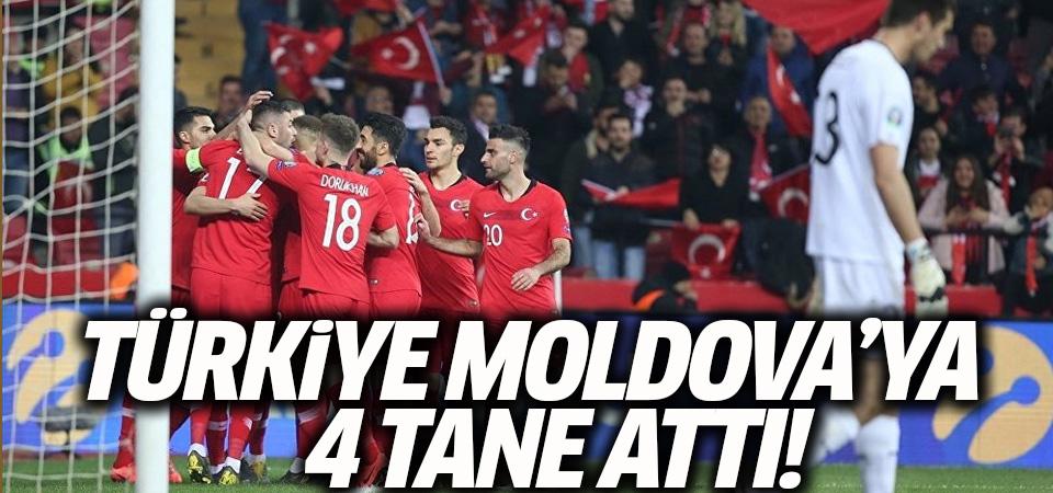 Türkiye Moldova'yı 4-0 mağlup etti