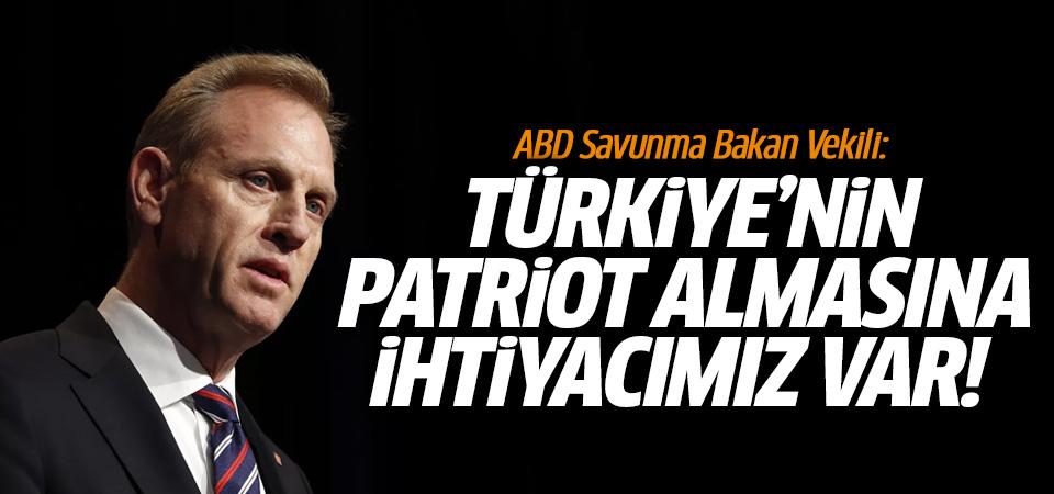 ABD: Türkiye'nin Patriot satın almasına ihtiyacımız var!