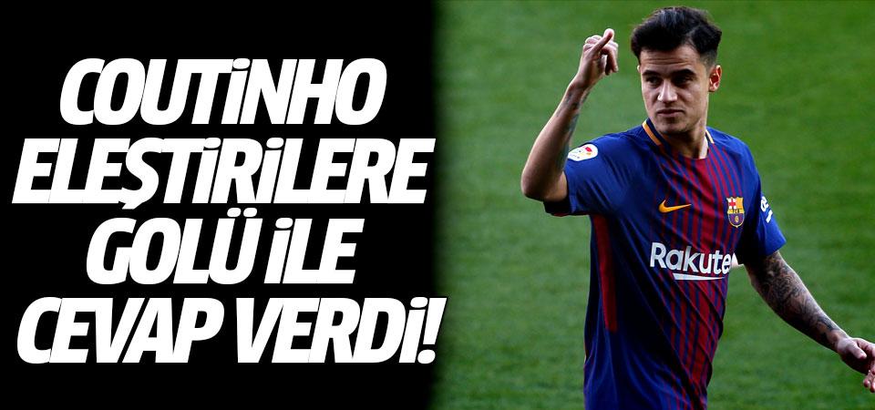 Coutinho eleştirilere golü ile cevap verdi!