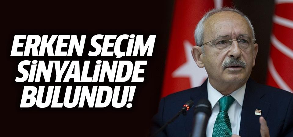 Kılıçdaroğlu'ndan erken genel seçim sinyali…