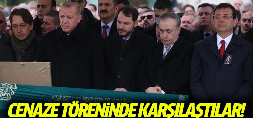 Erdoğan ve İmamoğlu cenaze töreninde karşılaştı!