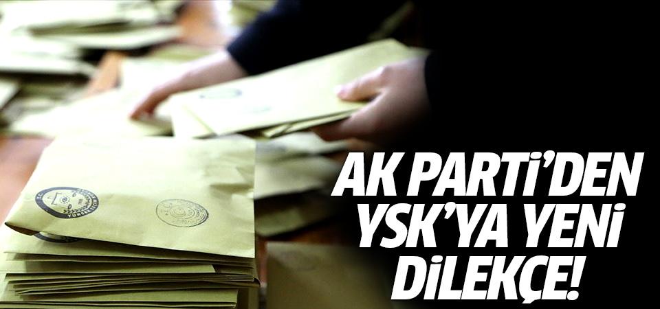 AK Parti'den İstanbul için YSK'ya yeni dilekçe!
