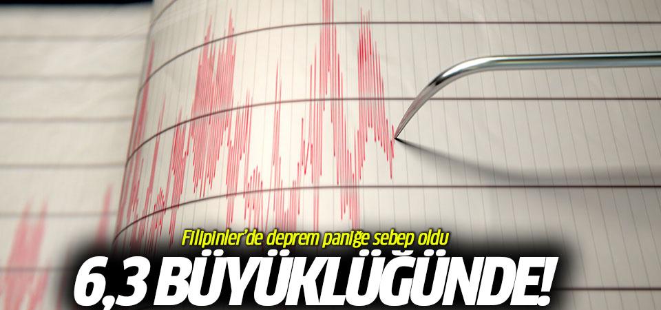 Filipinler'de deprem paniğe sebep oldu! 6,3 büyüklüğünde